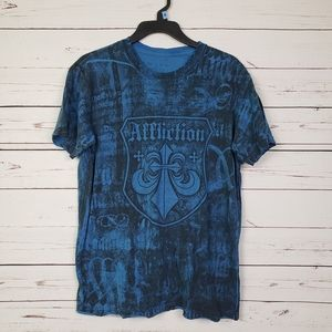 Affliction  T-Shirt Blue size M